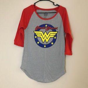 Retro Wonder Woman Baseball Tee